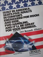 7/1982 PUB VOITURE AMERICAN MOTORS RENAULT ALLIANCE CAR WAGEN ORIGINAL AD