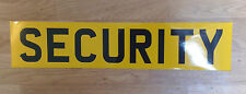 Reflective SECURITY self adhesive vinyl Sign Sticker 520mm x 111mm
