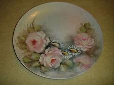 Antique Myrthes Signed Pink Rose Cabinet Plate-Floral Pattern-Limoges?-Amazing
