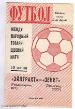 ORIG. PRG 10.06.1971 Zenit Leningrado-Concordia Gelsenkirchen!!! RARO