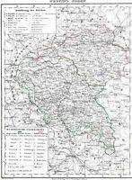 Landkarte DEUTSCHES REICH✠ 🇩🇪 ✠176 Jahre alt ✠POSEN✠Warthegau✠Bromberg 1844✠