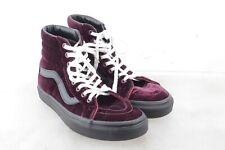 VANS High Top Burgundy Velvet  Skate Shoes Men's Size 5 Women's 6.5 36.5 EU