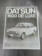 CATALOGUE PROSPEKT BROCHURE DATSUN 1600 LUXE