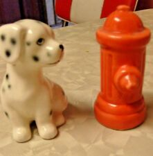 Norcrest Dalmation Dog & Fire Hydrant Salt & pepper Shakers