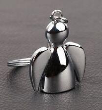 Porte-clés, bijou de sac ange protecteur, porte bonheur, acier.