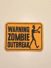 """Warning Zombie Outbreak iron on patch """" perverted """""""
