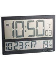 Horloge murale radio-pilotée avec thermomètre intérieur XXL - Infactory