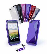HTC ONE V - S LINE GEN SILICONE CASE + FREE SCREEN PROTECTOR