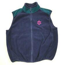 VINTAGE Sierra Sport Fleece Jacket Size XL Semi Fitted Full Zip Vest Sleeveless