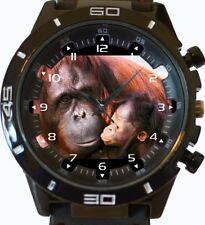 Female Sumatran Orangutan Pongo And Baby New Gt Series Sports Unisex Wrist Watch