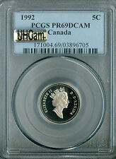 1992 CANADA 5 CENTS PCGS MAC PR69 UHCam ULTRA HEAVY CAM FINEST GRADED SPOTLESS *