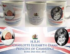 PRINCESS CHARLOTTE ELIZABETH DIANA #1 - ROYAL BABY MUG CUP - WILLIAM KATE DI