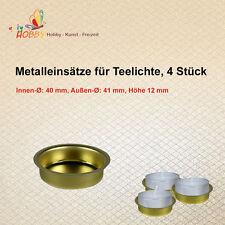 Metalleinsätze für Teelichte, 4 Stück