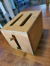 Vintage Wood Toy Toaster 7.5 x 6 x 5.5