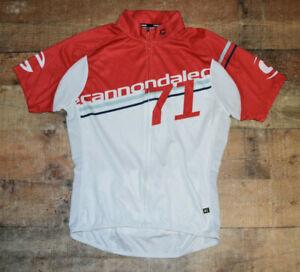 Cannondale Classic Women's Full Zip Cycling Jersey Shirt Short Sleeve Large B49