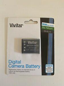 Vivitar Digital Camera Battery VIV-NB-EL10 for Nikon Camera Rechargeable Battery