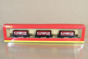 HORNBY R6086 W J RUMBELOW CAMBRIDGE 7 PLANK WAGON SET MINT BOXED ny