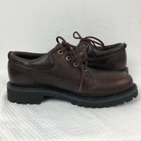 Timberland Mens Ridge Rider Casual Oxfords Shoes Brown Leather Lace Up Flat 8 M