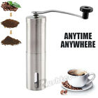 Manual Coffee Grinder Stainless Steel with Ceramic Burr Bean Mill Portable NEW