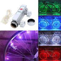 Bicycle 20 LED Bike Cycling Rim Lights LED Wheel Spoke Light String Strip LampJX