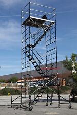 "SCAFFOLD STAIRWAY CASE ROLLING TOWER 5' X 7' X 20'8"" DECK HIGH CBMscaffold"