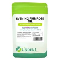Lindens Evening Primrose Oil 1000mg 90 Capsules Vitamin E Gamma Linolenic Acid