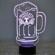 Lampada led 3D bicchiere boccale birra pub personalizzata incisone a laser USB