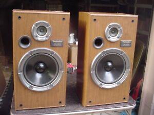 Technics SB-CR33 2-way 8 ohm 140W Midsize Floor Stereo Speakers USA