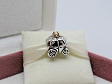 New w/Box Pandora Royal Carriage Pearl Sterling Silver & 14Kt Gold Charm 790598P