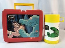 The Cave Warriors Lunch Box Deka Brand Red Vintage 1985
