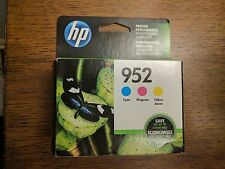 NEW SEALED GENUINE 3-PACK HP 952 Color Ink in RETAIL BOX N9K27AN#140  Exp 2/2019