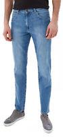 Wrangler Mens Arizona Stretch Regular Fit Jeans Light Sky High Blue Faded Denim