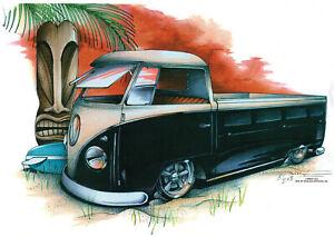 Black VW Pickup truck t-shirt     S,M,L or XL