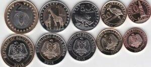 South Sudan / Südsudan - 10 + 20 + 50 Cents + 1 + 2 Pounds 2015 UNC - KMS Satz