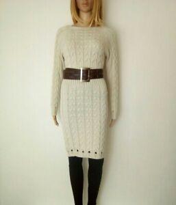 Création Made In Italy: Robe pull avec laine en maille torsadée T/U SUPERBE