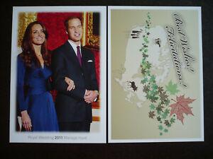 Postal History - Canada - Postcards for Royal Wedding - 2011