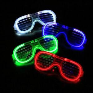 LED Glasses Light Up Glow Flashing Sunglasses Eyewear Night Club Bar Adults Ku