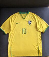 Nike Fit Brazil 2008-10 Home Soccer Jersey Shirt Size XL