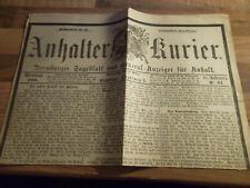 Anhalter Kurier #64 - 15.03.1888 Dreikaiserjahr Kaiser Friedrich - Erste Erlasse