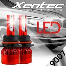 120W 12800lm 4 Sides LED Headlight Kit HB5 9007 Hi/Lo Beams 6000K Bulbs Pair