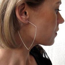 Sterling Silver Hoops - Modern Freeform Jewelry - Lightweight Geometric Earrings