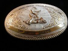 1982 Crumrine Elk City MRCA 1st Senior Goats Roping Rodeo Belt Buckle 4638291f