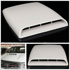 White Car SUV Decorative Air Flow Intake Hood Scoop Vent Bonnet Cover Universal