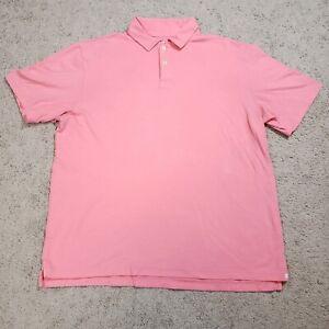 Peter Millar Polo Shirt Seaside Wash Mens Large Pink Golf Preppy Made in Peru