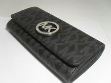 NWT MICHAEL KORS PVC OR LEATHER FULTON FLAP CONTINENTAL WALLET VARIOUS COLORS