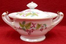 KONGO/SGK china KON86 Red Flower Vine pattern Sugar Bowl & Lid
