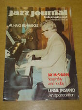 JAZZ JOURNAL INTERNATIONAL VOL 32 #3 1979 MARCH JAY MCSHANN LENNE TRISTANO