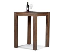 Hochtisch Stehtisch Bartisch Bistrotisch 80x80x110 Massivholz Pinie Cognac braun