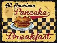 All American Pancake Breakfast Metal Sign, Retro Cafe, Restaurant, Kitchen Decor