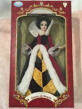 """Disney Store Limited Edition Queen Of Hearts 17"""" Doll LE 500 Alice inWonderland"""